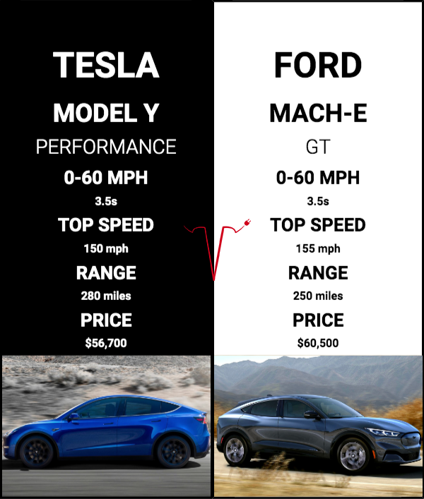 model y vs. mach-e