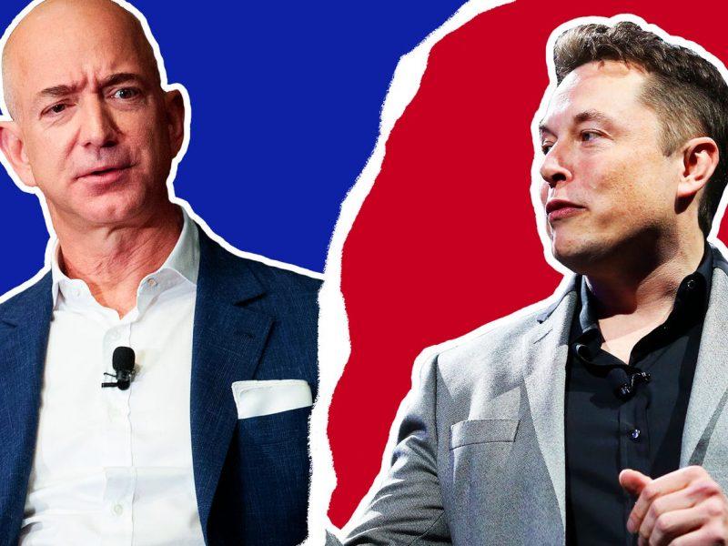 Jeff Bezos Elon Musk Beef