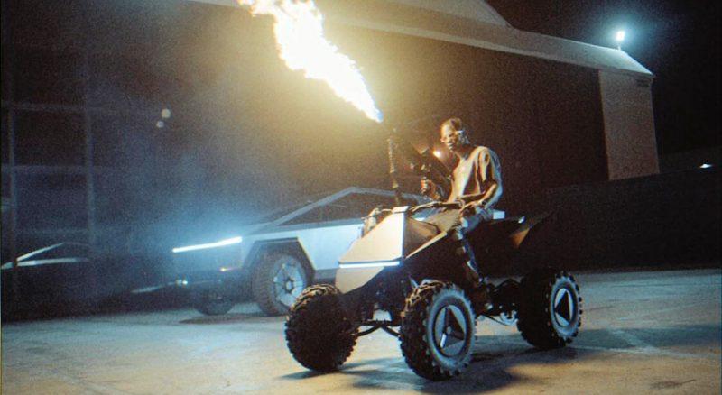 Cybertruck Travis Scott Music Video