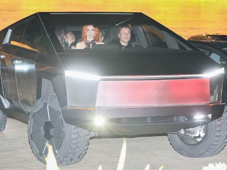 Elon Musk Driving The Cybertruck